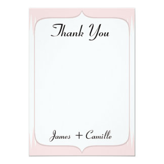 Vintage Blush Pink Spikes Thank You Card / Note
