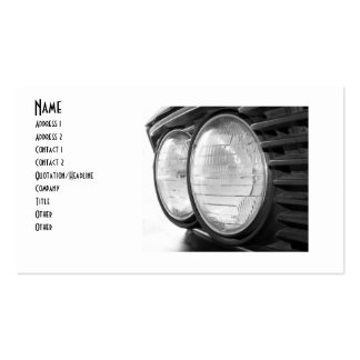 vintage BMW headlights buisness card Business Card Templates