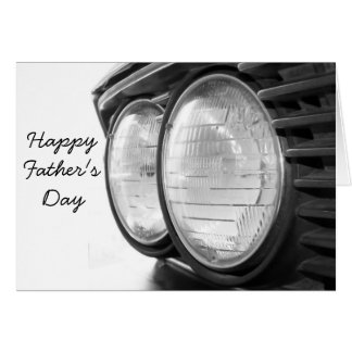 Vintage BMW headlights Father's day Card