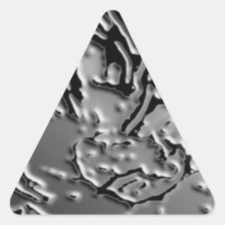 Vintage BNW B&w - baya de plata elegante Pegatina Triangular