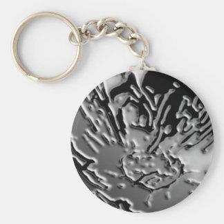 Vintage BNW B&w - Elegant Silver Berry Basic Round Button Keychain