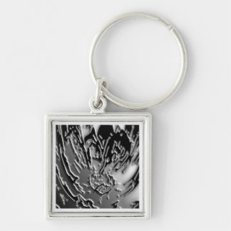 Vintage BNW B&w - Elegant Silver Berry Silver-Colored Square Keychain