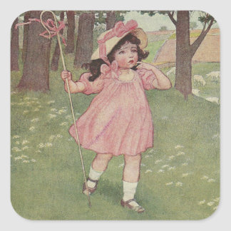 Vintage Bo Peep Square Sticker