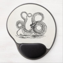 Vintage Boa Snake Skeleton Personalized Template Gel Mouse Pad