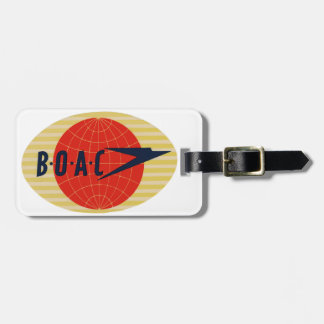 Vintage BOAC Airline Logo Bag Tag