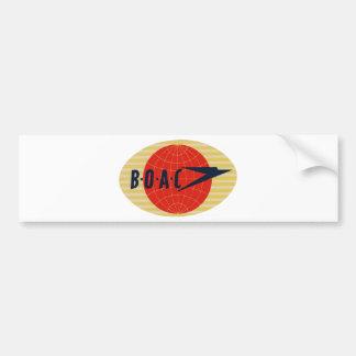 Vintage BOAC Airline Logo Bumper Sticker