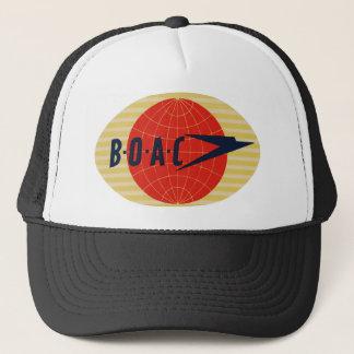 Vintage BOAC Airline Logo Trucker Hat