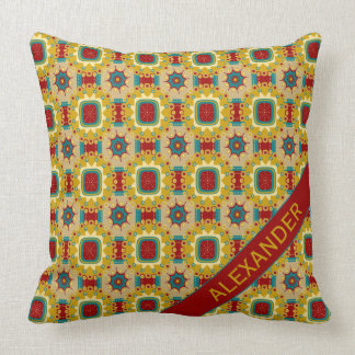 Vintage Board Game Personalized Throw Pillow