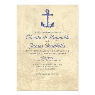 Vintage Boat Wedding Invitations Invite