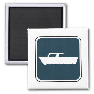 Vintage Boating Sign 2 Inch Square Magnet