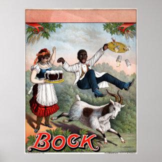 Vintage Bock Beer Advertising Poster