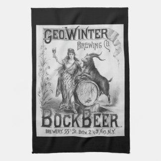 Vintage Bock Beer Bar Towel