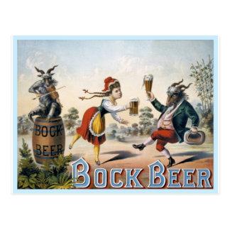 Vintage Bock Beer Postcard