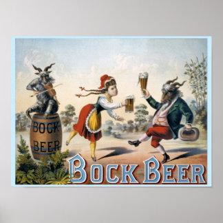 Vintage Bock Beer Poster