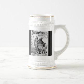 Vintage Bock Beer Stein Mugs
