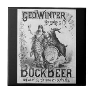 Vintage Bock Beer Tile