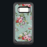"Vintage bohemian elegant pink red roses pattern OtterBox commuter samsung galaxy s8 case<br><div class=""desc"">Vintage bohemian elegant pink red roses pattern.Vintage cute girly colorful pink red and white roses .A elegant floral design on teal green background .The perfect romantic gift idea for her on any occasion .</div>"