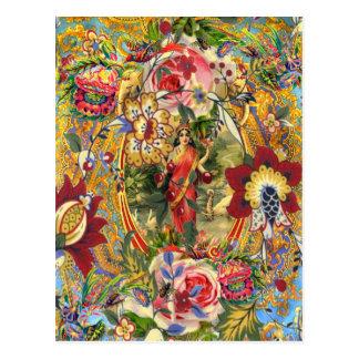 Vintage Bohemian Goddess Postcard