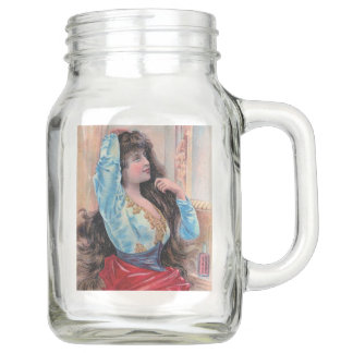 Vintage Bohemian Gypsy Gypsy Collection Mason Jar