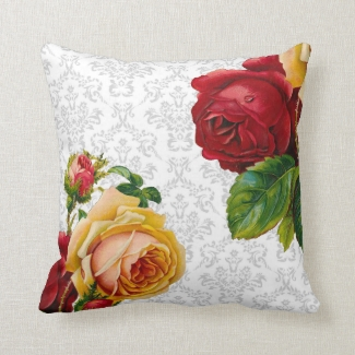 Vintage Bohemian Light Gray Roses Design
