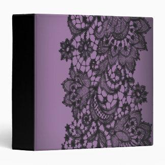 vintage bohemian royal purple black lace binder