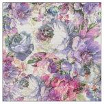 Vintage bohemian rustic pink lavender floral fabric