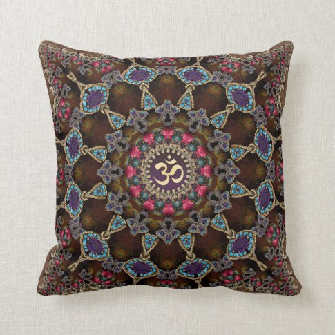 Vintage Bohemian Spiritual Aum Cushion / Pillow