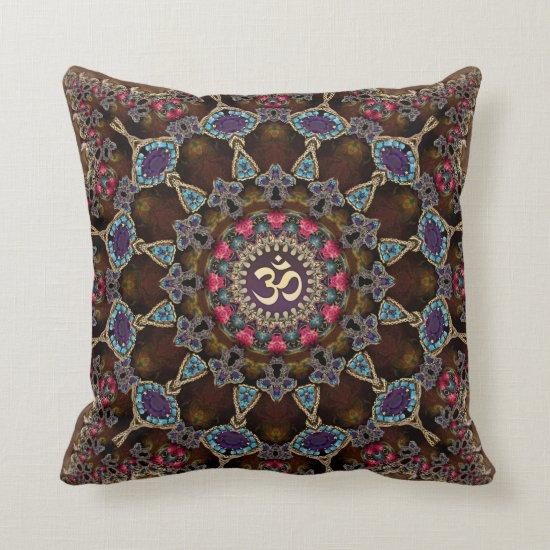 Vintage Bohemian Spiritual Aum Cushion / Pillow