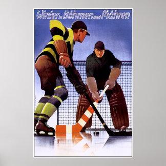 Vintage Bohman und Mahren Hockey Poster