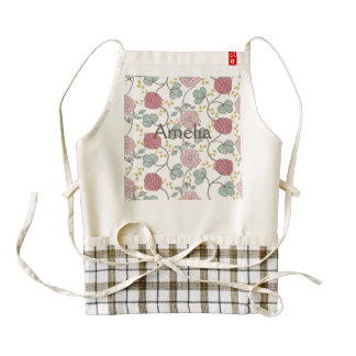 vintage,boho chic,retro,floral,pattern,girly,trend zazzle HEART apron