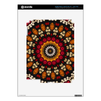 Vintage Boho Chic Vibrant Tribal pattern Decals For iPad 3