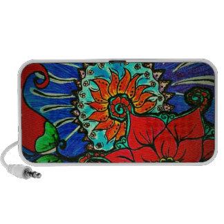 vintage boho floral design speaker