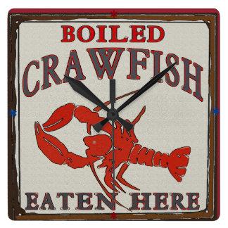 Vintage Boiled Crawfish Eaten Here Clock