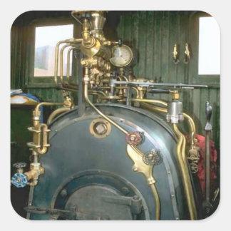 Vintage boiler square sticker