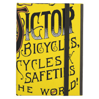 Vintage Bold Orange Victor Bicycles Winged Tire Ad iPad Cases