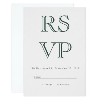 Vintage Bold RSVP Card