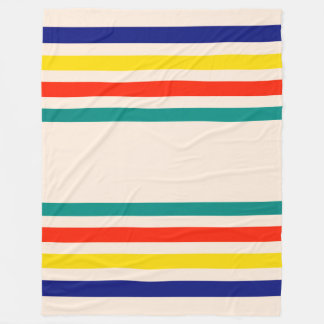 Vintage Bold Striped Fleece Blanket