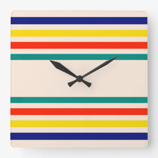 Vintage Bold Striped Light Wall Clock