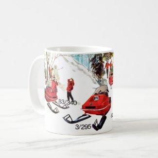 Vintage Bolens Snowmobile Coffee Mug
