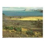 Vintage Bolivia, Lake Titicaca Postcard