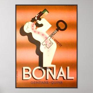 Vintage Bonal Gentiane Quina Impresiones