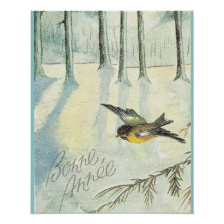 Vintage  Bonne Annee, Robin the the forest Poster