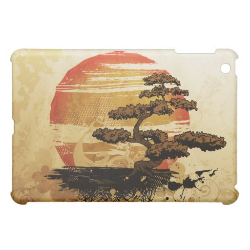 Vintage Bonsai Sunset iPad Mini Cover