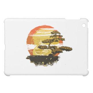 Vintage bonsai tree graphic in sepia tones no back cover for the iPad mini