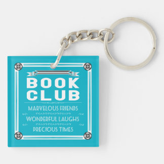 Vintage Book Club Typography Keychain