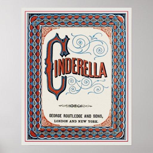 Vintage Book Cover Posters : Vintage book cover cinderella poster zazzle