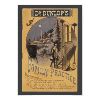 Vintage Book Cover Doctor Dunlop's Family Practice Card