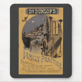 Vintage Book Cover Doctor Dunlop's Family Practice Mouse Pad
