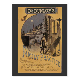Vintage Book Cover Doctor Dunlop's Family Practice Postcard