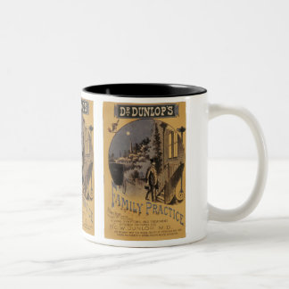 Vintage Book Cover Doctor Dunlop's Family Practice Two-Tone Coffee Mug